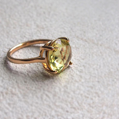 Candy Ring-Lemon quartz