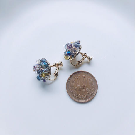 Beas bijou earrings / blue【A-01】
