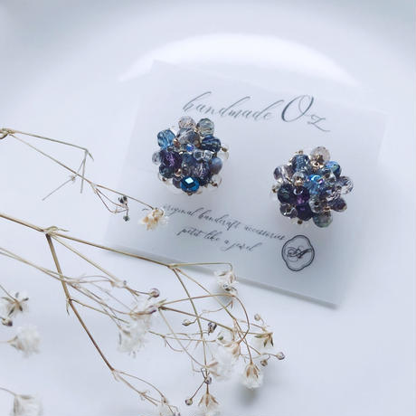 Beas bijou earrings / blue 【A-02】