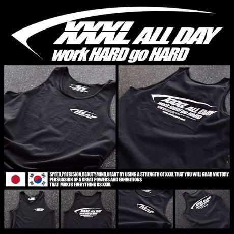 ''XXXL ALL DAY''JAPAN×KOREA タンクトップ