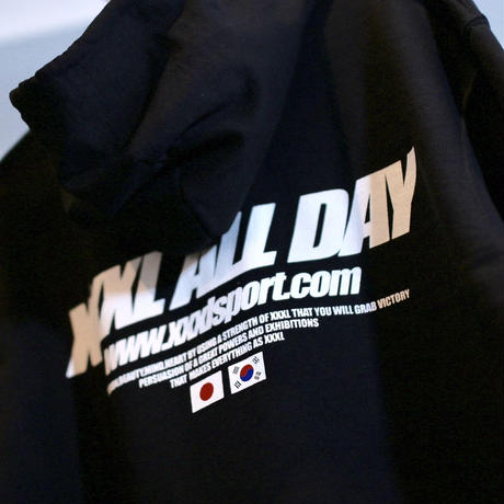 ''XXXL ALL DAY''JAPAN×KOREA フルジップパーカー