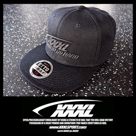 ''XXXL''OTTO CAP 3D ALL BLACK