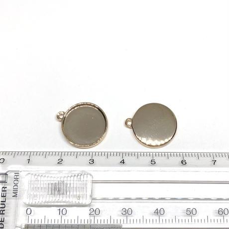17A-12:サークルメタル枠パーツ 約18*16mm