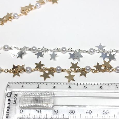 デザインチェーン:GD星とパール【90cmカット】