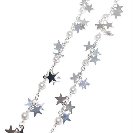 デザインチェーン:SV星とパール【90cmカット】