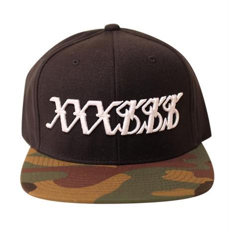 XXXSSS Tokyo Snapback (Black X Camouflage)  *LIMITED*
