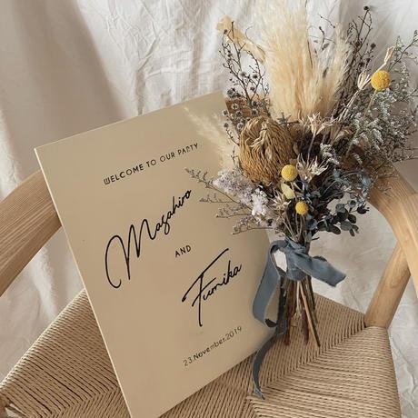 welcomeboard+bouquet A3サイズ ⑩