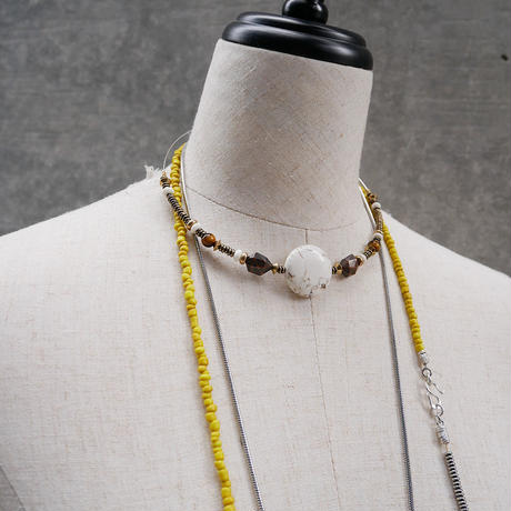 seeds double necklace second YELLOW