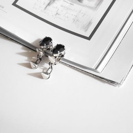 bijou spyke pierce/earr clip BLACK