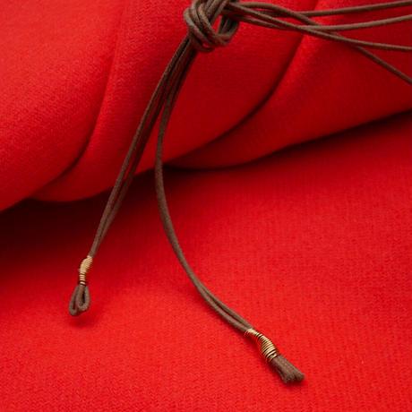 braid brass necklace BEIGE