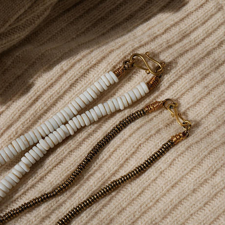 seeds double necklace MONO -white-