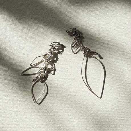 leaf pierce/earrings SILVER