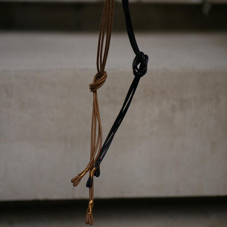 braid brass necklace BLACK