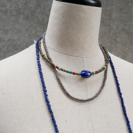 seeds double necklace second BLUE