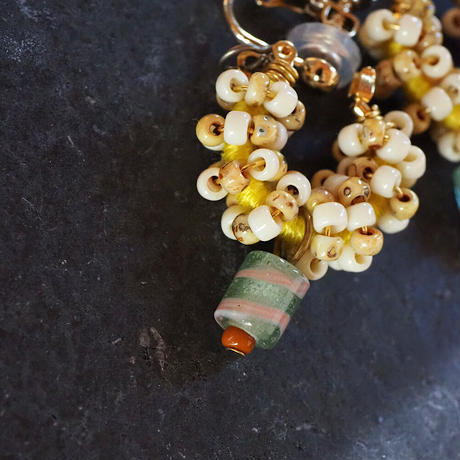India grass pierce/earrings -ivory-
