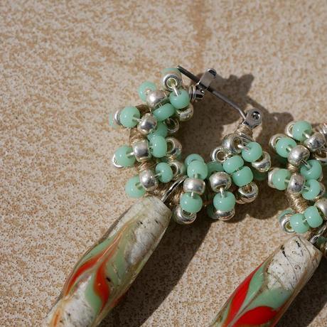 India grass pierce/earrings -mint-
