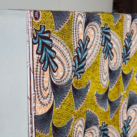 batik kaftan -yellow-