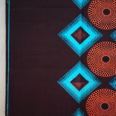 batik kaftan -turquoise×salmon pink-
