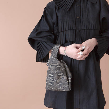 python mini bag BLACK