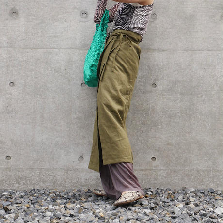 pocket wrap skirt SUMIKURO