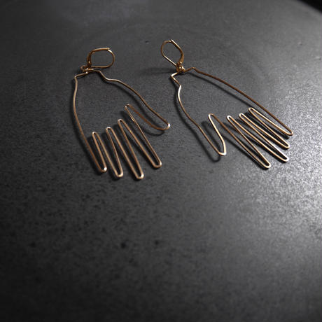 "made by ""hand""pierce/earring GOLD"