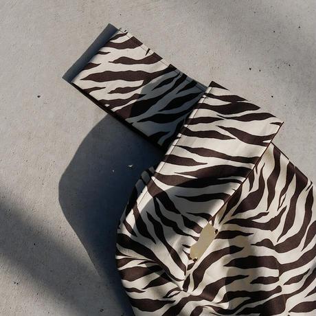 personal bag BROWN×CREAM