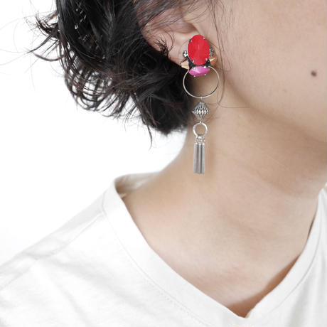 cement pierce/earring  RED