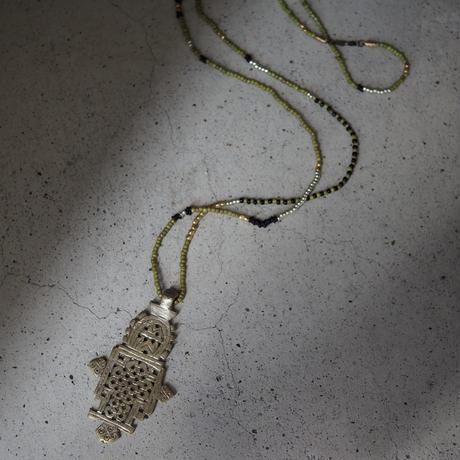 Ethiopian cross necklace -pistàcchio A-
