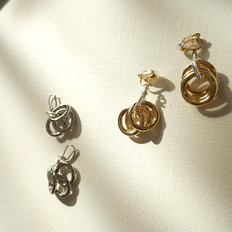 3lines  pierce/earrings GOLD