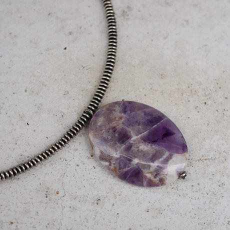 amethyst short necklace