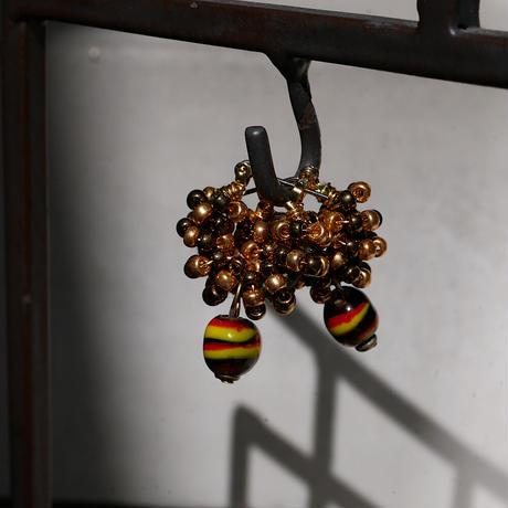 India grass pierce/earrings -bronze -