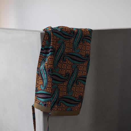 batik wrap skirt - geometric leaf-