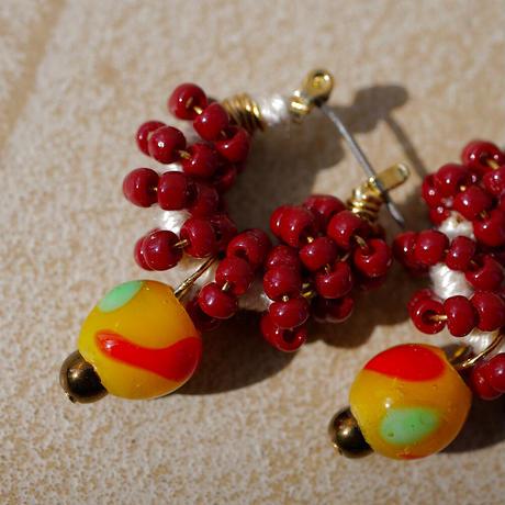 India grass pierce/earrings -azuki-