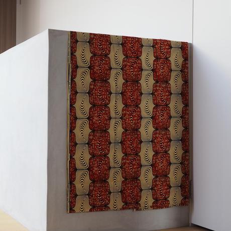 batik kaftan -terracotta×blue-