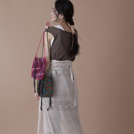 ami ami mesh bag DARK GRAY