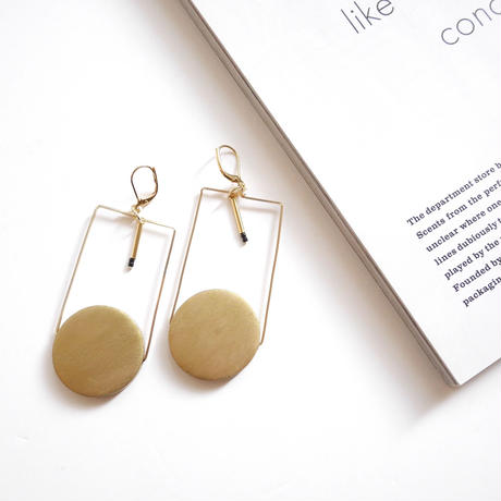 circle square pierce/earrings GOLD