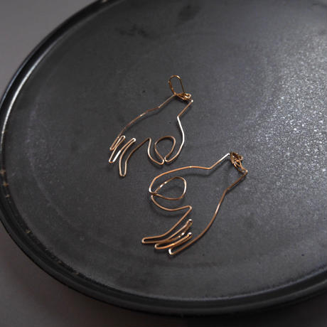 mudraa pierce/earrings GOLD