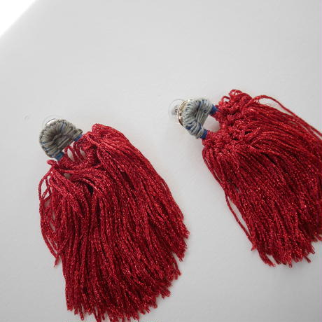 shi shi  pierce/earrings RED