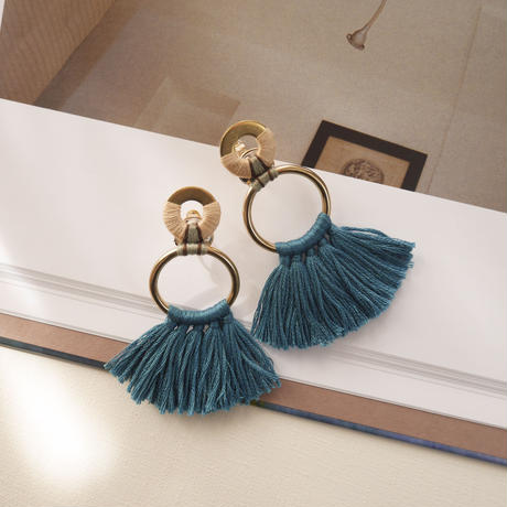fringe pierce/earrings VINTAGE TURQUOISE