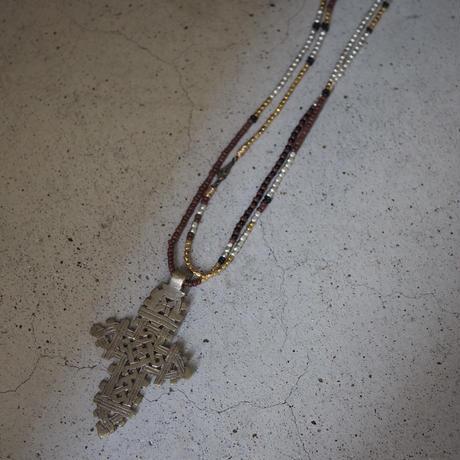 Ethiopian cross necklace -brick A-