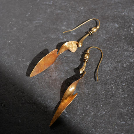 twist brass pierce/earrings