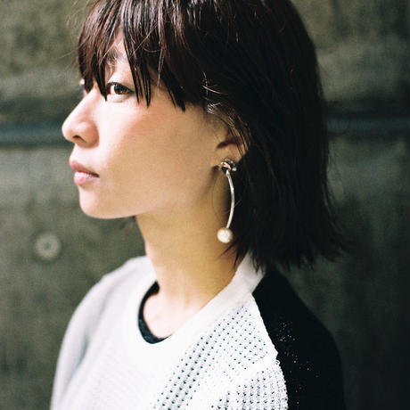 tube pierce/earrings BLACK×GOLD