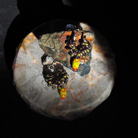 India grass pierce/earrings - grape×kiwi-