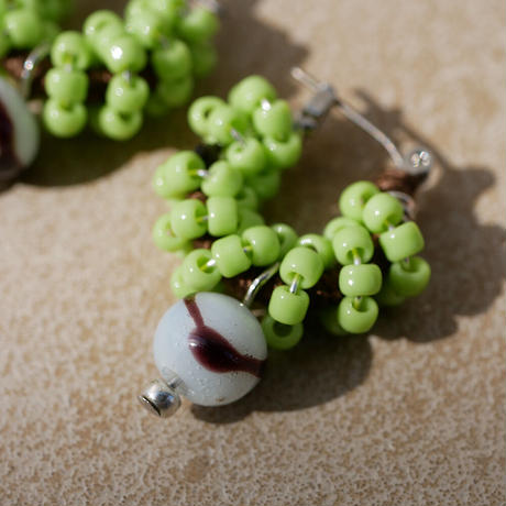 India grass pierce/earrings -kiwi-