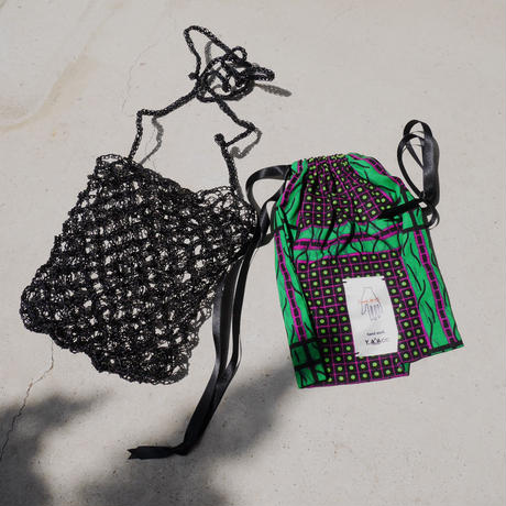 amiami mesh bag BLACK