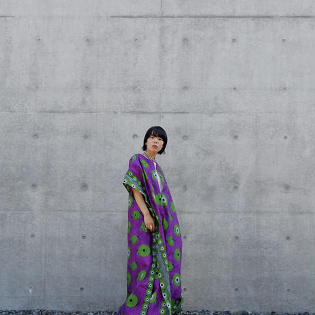batik kaftan -purple×green-