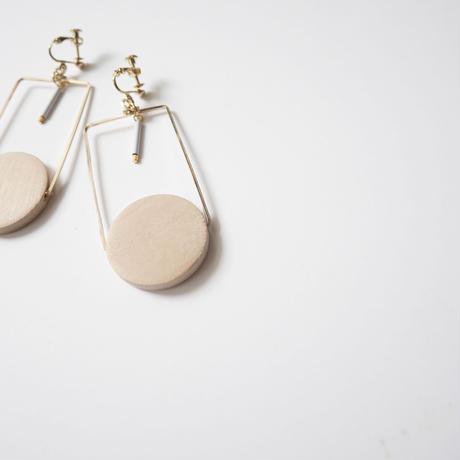 circle square pierce/earrings BEIGE