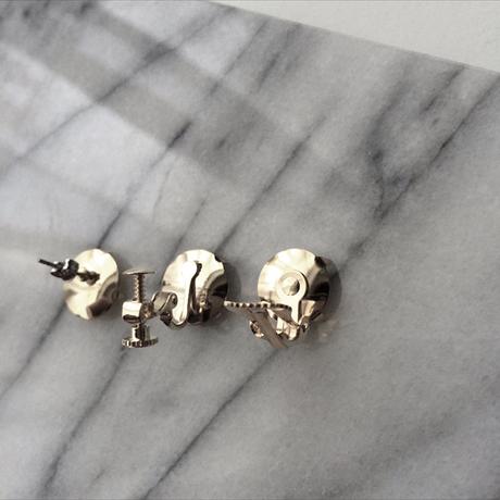 thread pierce / earrings BEIGE BLACK