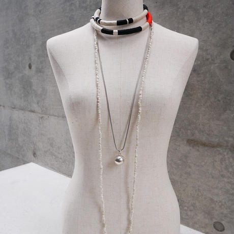 seeds double necklace second WHITE