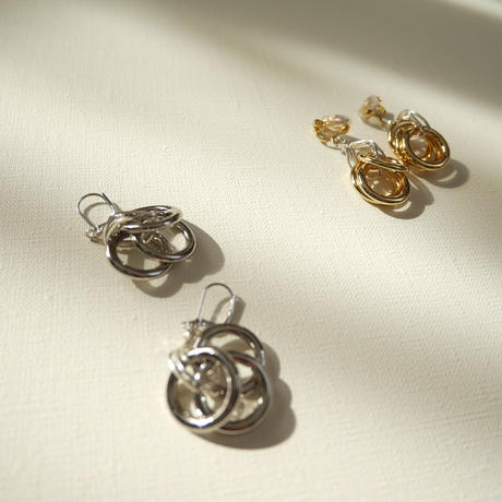 3lines  pierce/earrings SILVER